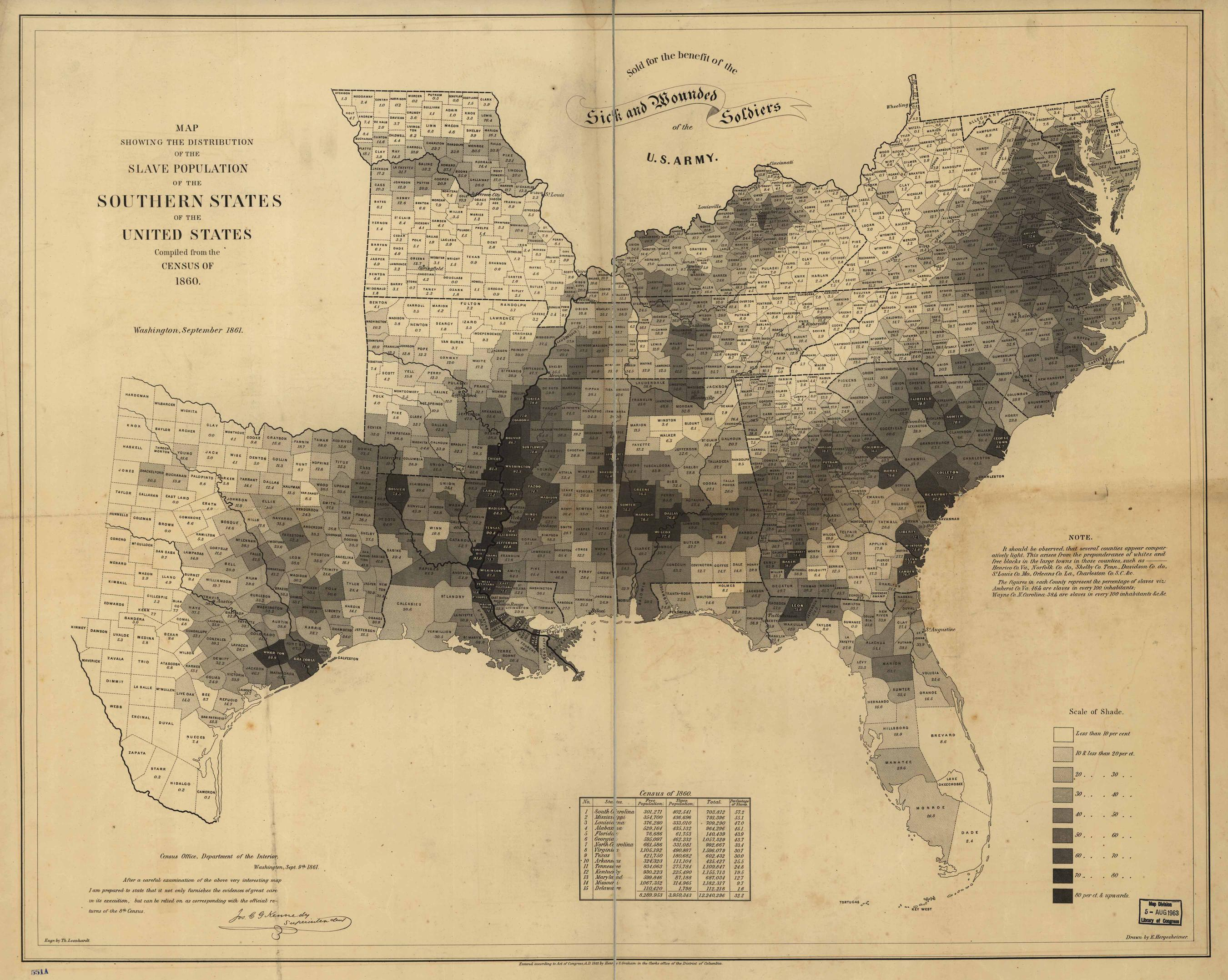 just a reminder that the maps like this one have a bitter past above is a map produced in 1861 at the start of the civil war based on census data from