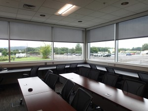 The command center at SWIRLL with ballistic proof glass.