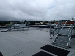 The roof of SWIRLL contains several  pads that meteorological equipment can be bolted to for testing and use.